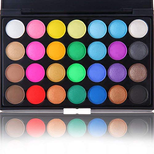 28 Colors Eyeshadow Start Makers Earth Warm Color Shimmer Matte Eye Shadow Smoky Makeup Cosmetic Eyeshadow Palette