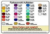 Rügen Aufkleber Insel in 9 Größen und 25 Farben (8,2x10cm grau) - 4
