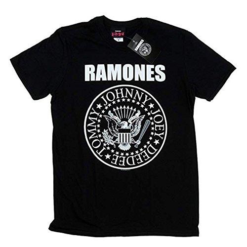 Ramones Camiseta con Logo Vintage clásico Música Rock - Oficial...