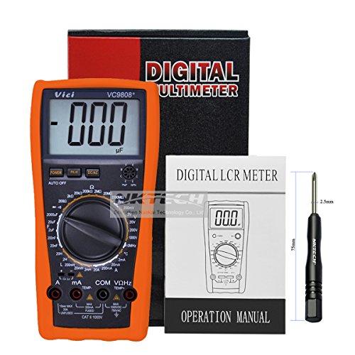 Nktech Vici VC9808+ multimetro digitale misuratore di frequenza di induttanza resistenza AC DC tensione corrente voltmetro Ohmmeter hFE test con cacciavite tl-1