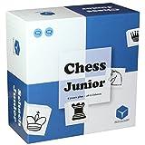 Chess Junior - Schachspiel für Kinder mit Eltern-Kind Spielanleitung, blau/weiß