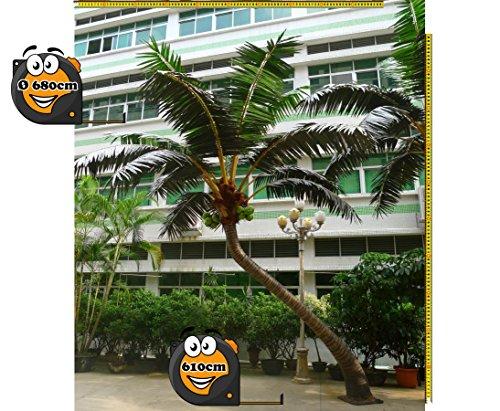 Kunstpalme gebogen für Außenbereich Höhe 610cm, Durch. ca. 680cm extrem widerstandsfähig –> Kunstpflanze Kunstbaum künstliche Palmen Kunstpalmen Dekopalmen Palmen Palmbäume