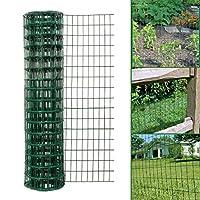 Simpa Multipurpose 1.5M x 10M - Green PVC Coated Galvanised Steel Wire Garden Fencing Roll - Mesh Hole Spacing 10.16cm x 5.08cm