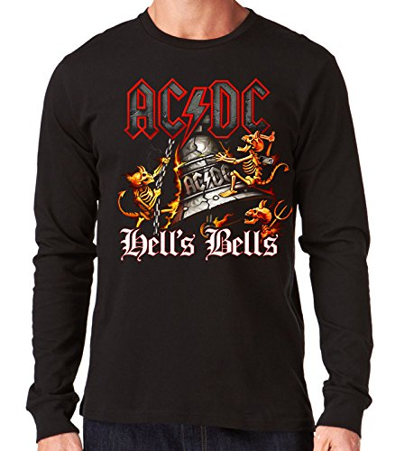 35mm - Camiseta Hombre Manga Larga - ACDC - AC/DC - Hells Bells - Long Sleeve Man Shirt, Negra, XXL