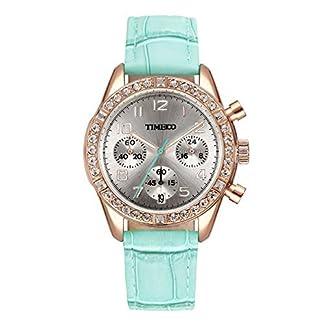 Time100-Damenuhr-Leder-Band-dekoratives-Zifferblatt-mit-Strass-Armbanduhr-Quarz-Analog-Uhr