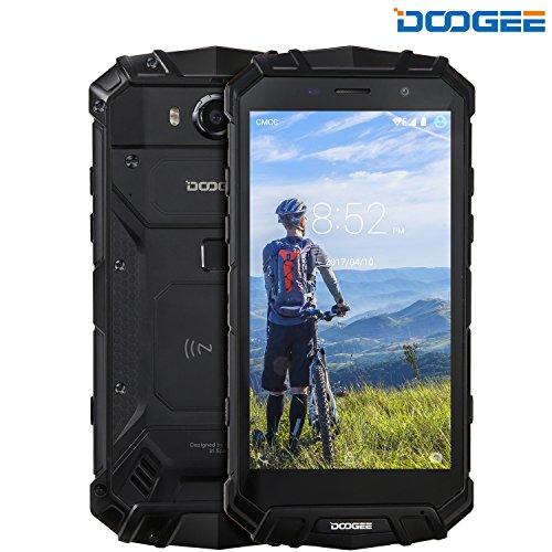 Cellulari in Offerta, DOOGEE S60 IP68 Antiurto 4G Smartphone Impermeabile - Android 7.0 Telefoni- Helio P25 Octa-core - 6GB RAM+64GB ROM - 5.2 pollici FHD - 21.0MP Fotocamera - 5580mAh 12V2A- Nero