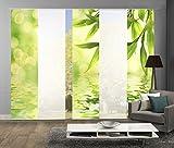 wohnfuehlidee 5er-Set Flächenvorhang, Deko blickdicht, MARCELLA, Höhe 245 cm, 3x Dessin/2x uni transparent