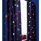 Tab Top Outer Space Rideaux de chambre Bleu 168 x 183 cm
