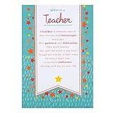 HallmarkTarjeta de agradecimiento para profesor con mensaje en inglés «Great Teacher», mediana