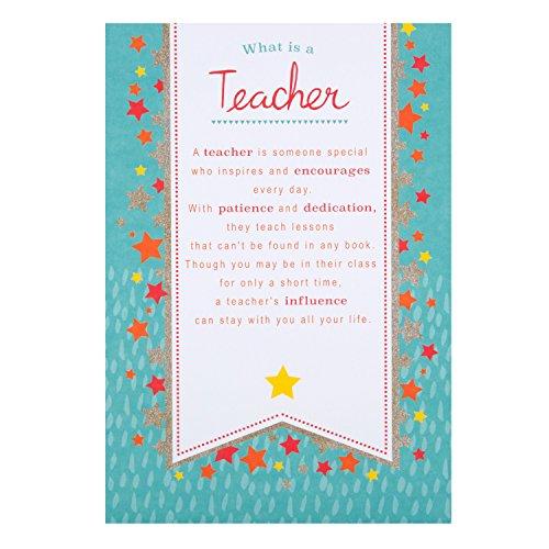 HallmarkTarjeta agradecimiento profesor mensaje