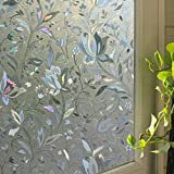 DAEDALUS 2 : 100x45cm 3D Flower Pattern Self-adhesive Window Film Sticker Opacity Glass Cover