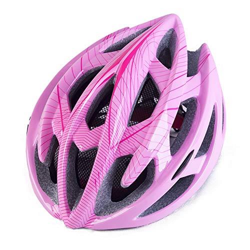 Lfives-sp Fahrradhelm Reithelm mit Licht mit Insektennetz Bequemer und sicherer Fahrradhelm for Männer und Frauen für Männer Frauen Kinder Kinder (Farbe : Rosa,...