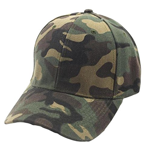 ZEZKT Camouflage Snapback, Männer Damen Unisex Sommer Sonnenhut Baseball Kappen, Hut Partner-Cap Baseballmütze, für Draussen, Sport und Reisen, Baseballmütze Sonnenhut (Grün)