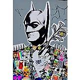 Faicai Art Banksy Graffiti Street Art Peinture sur Toile Art Mural Batman Pop Art Poster Décoration de Maison Moderne Chambre d'enfant Contemporain 28