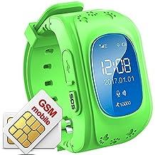Los niños Smartwatch GPS Rastreador NIÑOS reloj de pulsera teléfono anti-lost SOS pulsera Parent control por iPhone iOS Android Smartphone