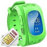 Kinder Armband Uhr Smartwatch GPS Tracker Verlorene Finder Kinder gps Kind Locator Niedrigere Strahlung Echtzeit Standortverfolgung Kinder Smart Uhr Q50 Grün