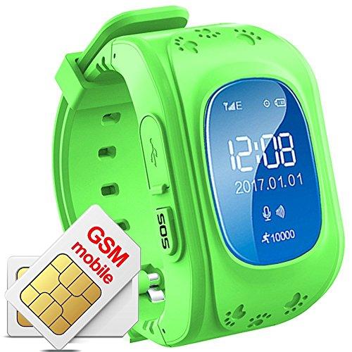 Niños Reloj De Pulsera Smartwatch GPS Tracker Perdidos Finder Niños GPS hijo...