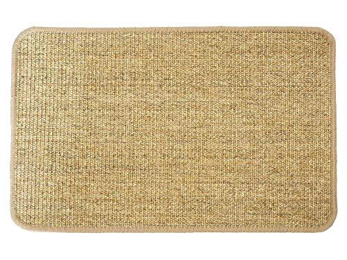 Primaflor - Ideen in Textil Katzen-Kratzmatte Katzenteppich - Nuss 40 x 60 cm, Sisal, Langlebige Rutschhemmende Sisal-Matte, Geeignet für Fußbodenheizung, Krallenpflege Sisalteppich für Wand & Boden