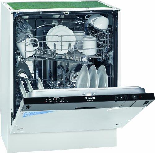 Bomann GSPE 786 vollintegrierbarer Geschirrspüler / Einbau / A+ A / 291 kWh/Jahr / 3360 Liter/Jahr / 12 MGD / 48 dB / Breite 60 cm / 6 Programme / schwarze Bedienblende