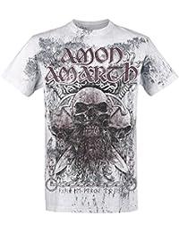 Amon Amarth Beardskulls T-Shirt Light Grey 4XL