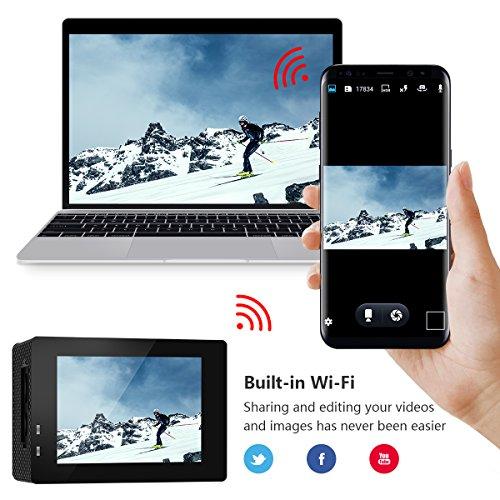 ORSKEY-Cmara-de-Accin-1080P-WiFi-Cmara-Submarina-Full-HD-12MP-Cmara-Deportiva-Impermeable-30M-170-Lente-Gran-Angular-con-2-Bateras-Recargables-y-Kits-de-Accesorios-de-Montaje