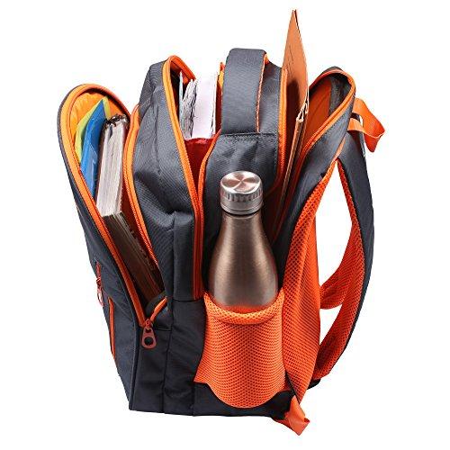 Sassie Grey Polyester 41 Ltr School Backpack Image 5