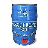 Arschlecken 350 Partyfass 5 Liter Helles Bier 5,2% vol, Arschlecken350 Bierfass by Sepp Bumsinger,Party & Geschenkidee aus Bayern