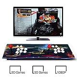 Hppgame Machine de Jeu vidéo Arcade 2350 Jeux Classiques, 2 Joueurs Pandora's Box 6 Joystick Arcade Console de Jeux Retro, 1280 * 720 Full HD, Bouton personnalisé, Supporte PS3, Output de HDMI et VGA