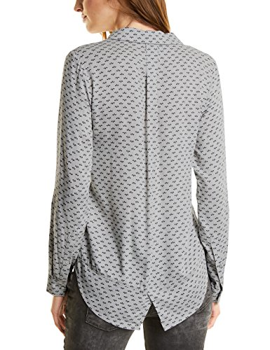 Street One Damen Bluse Grau (Cyber Grey Melange 30767)