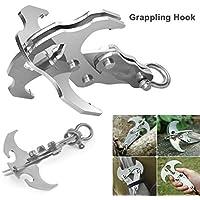 Upshang Folding Gravity Hook Edelstahl-EDC-Werkzeug Zum Überleben Grappling Climbing Claw Outdoor-Multifunktionskarabiner In Der Bug-Out-Tasche