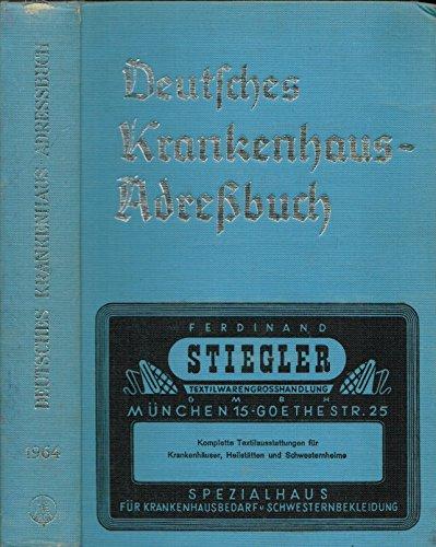 """Deutsches Krankenhaus Adreßbuch mit """"eurohospital Bezugsquellennachweis für Krankenhausbedarf"""". 5. Ausgabe 1964."""