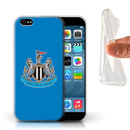 Officiel Newcastle United FC Coque / Etui Gel TPU pour Apple iPhone 6S / Couleur/Rouge Design / NUFC Crête Football Collection Couleur/Bleu