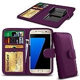 N4U Online® Posh Titan Max HD E550 PU-Leder-Clip-Mappen-Kasten-Abdeckung mit Kreditkarte, Notes & ID Slots - Purple