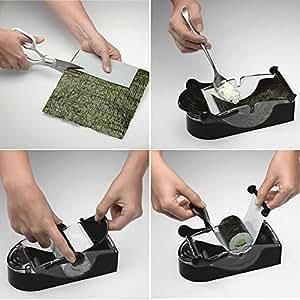 Continu créative facile Onigiri Rouleau à billes Sushi Maker Cutter Rouleau magique riz Mold outil japonaise