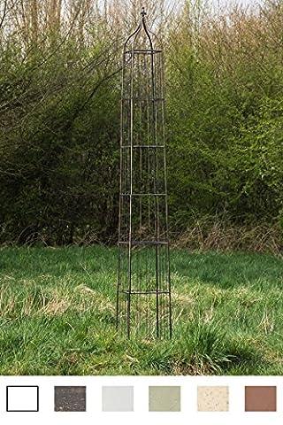 CLP XXL Garden Obelisk TROJA, 44 x 44 cm, height 350 cm, choose from up to 6 colours bronze