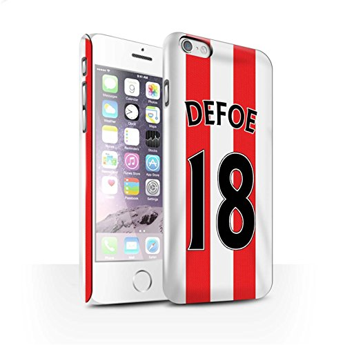 Offiziell Sunderland AFC Hülle / Glanz Snap-On Case für Apple iPhone 6 / Pack 24pcs Muster / SAFC Trikot Home 15/16 Kollektion Defoe