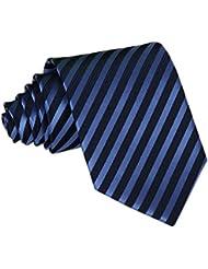 Demarkt Cravate Homme Mince à Rayure Pour Soirée Mariage