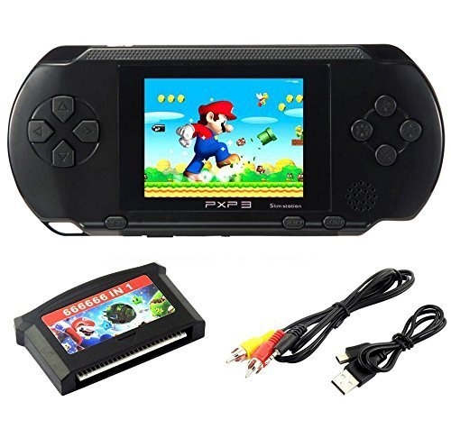 """Spielkonsolen 2.7 \""""LCD Handheld Spielkonsole 16 Bit Portable Wiederaufladbare Videospiel mit 150 + Spiele (Spielkonsolen)"""