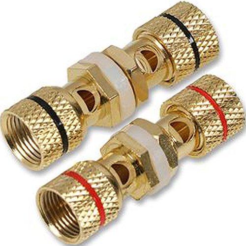 Cablefinder Paar Lautsprecherkabel Binding Post Panel Mount Terminals-blanko Wall Face Plate -