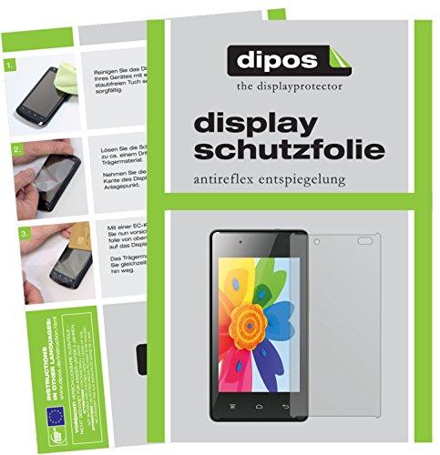 dipos I 2X Schutzfolie matt passend für Hisense HS-U610 Folie Displayschutzfolie