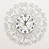 ZLR Mode Wanduhr Wohnzimmer Home Furnishing Strass Wanduhr Schlafzimmer Stumm Clock Kreative Art Deco Uhr ( Farbe : E )