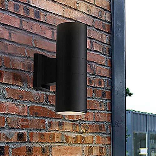 LJ LED Wandleuchte Und Wandleuchte Aus Zylindrischem Glas Aluminium Wandleuchte 9W / E26 / E27 Schwarz Grau (Farbe : Black) -