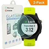 Maxhood (2 paquetes) Garmin Forerunner 935 Protector de pantalla ultradelgado de cristal, 9h dureza 0.3 mm 2.5d Ronda Edge Vidrio Templado Protector de pantalla para Garmin 935