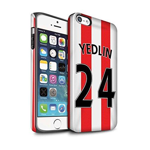 Offiziell Sunderland AFC Hülle / Glanz Harten Stoßfest Case für Apple iPhone 5/5S / Pack 24pcs Muster / SAFC Trikot Home 15/16 Kollektion Yedlin
