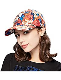 ef5a1c9a75a Kenmont Women s Cotton Baseball Cap 5 Panel Outdoor Sports Visor Sun Hat  with Peony Flower Floral