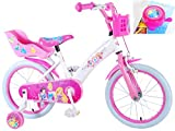 Disney Kinderfahrrad Princess 16 Zoll mit Rücktrittbremse und Fahrradklingel