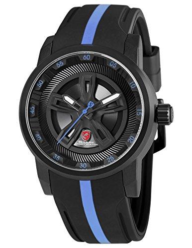 SHARK Quartz Homme Montre Bracelet de Sport Silicone Cadran Multicouche SH504