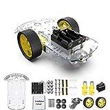 diymore 2WD Roboter Smart Auto Chassis DIY Kits Intelligente Motor mit Tracking Geschwindigkeit und Tacho Encoder 65x26mm Reifen für Arduino Raspberry Pi(2WD)