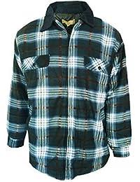 Mens Padded Fleece Check Lumberjack Jacket From Bruno Galli