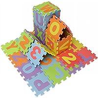Mini 36pcs EVA alfombra almohadilla alfabeto número rompecabezas bebé rastrear juego niños estera
